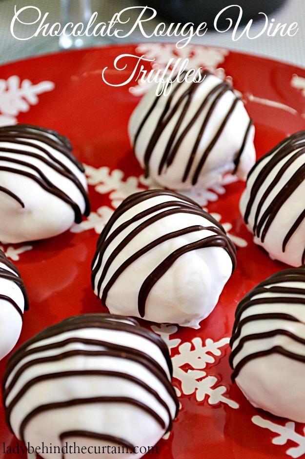 #ChocolatRouge Wine Truffles -#Cheers2Chocolate