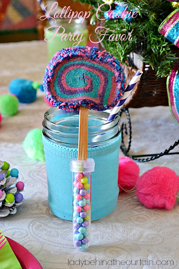 Lollipop Cookie Party Favor - Lady Behind The Curtain