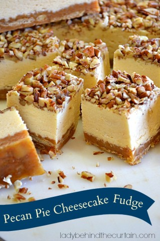 Pecan Pie Cheesecake Fudge