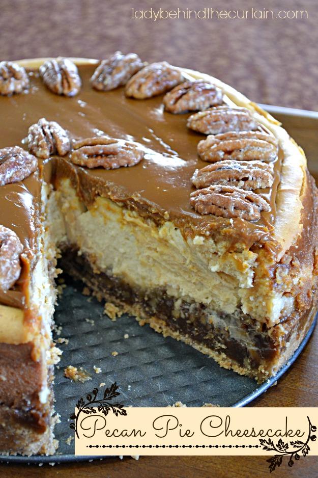 Pecan Pie Cheesecake Pecan pie cheesecake