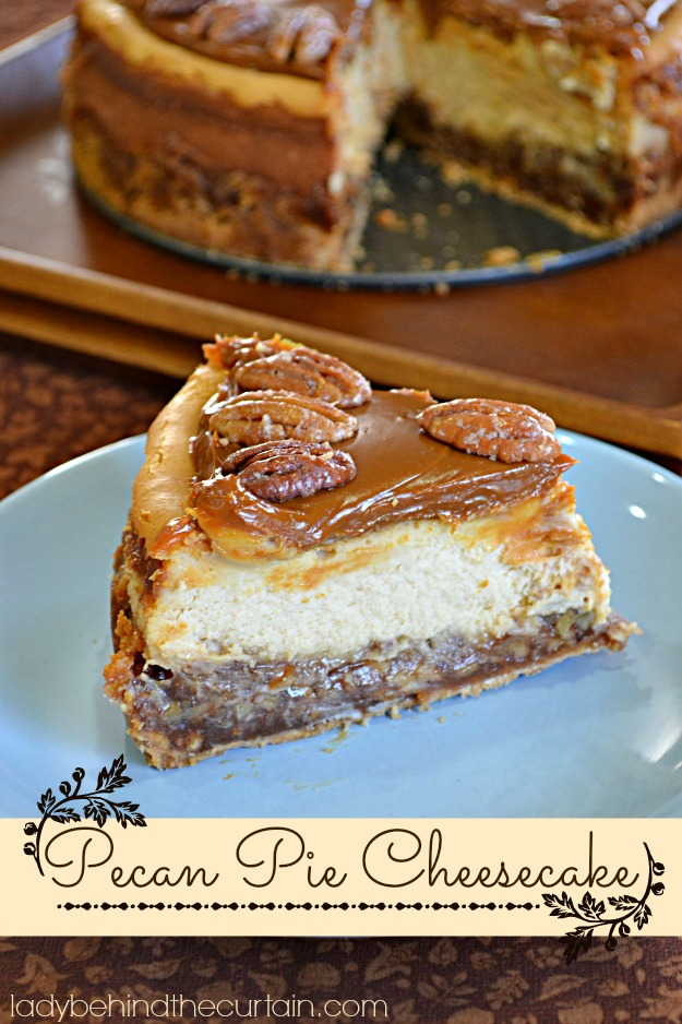 Pecan Pie Cheesecake Pecan pie cheesecake - lady