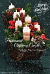 5th Day of Bloggy Christmas {Peppermint Christmas Candle Push Up Pop Centerpiece}