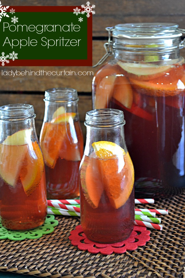 Pomegranate Apple Spritzer - Lady Behind The Curtain
