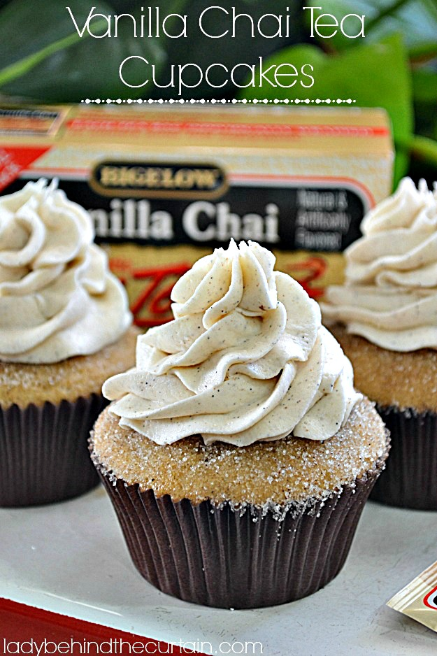 Vanilla Chai Tea Cupcakes - Lady Behind The Curtain 2
