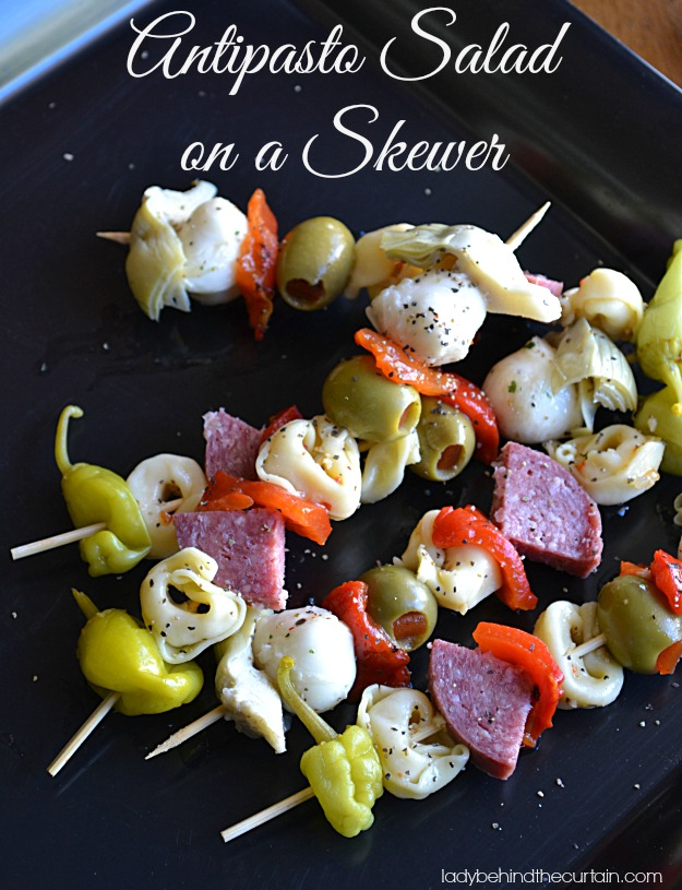 Antipasto Salad on a Skewer - Lady Behind The Curtain #Joy to theTable #PMedia #ad.jpg