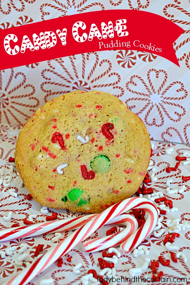 Candy Cane Pudding Cookies - Lady Behind The Curtain