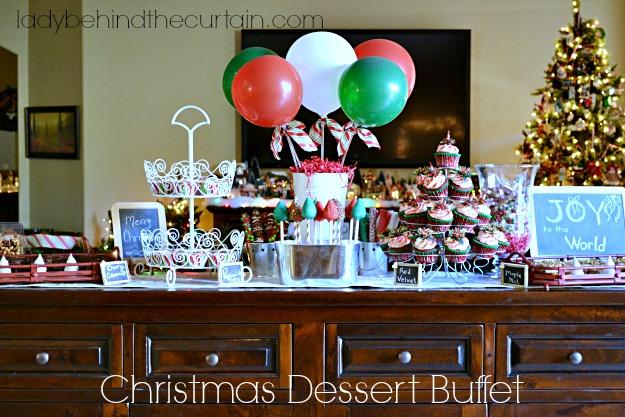 Christmas Dessert Buffet - Lady Behind The Curtain