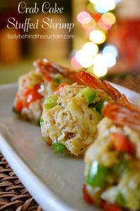 Crab Cake Stuffed Shrimp - Lady Behind The Curtain