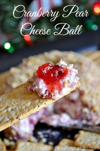 Cranberry Pear Cheese Ball - Lady Behind The Curtain