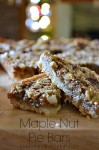 Maple Nut Pie Bars
