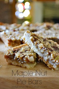 Maple Nut Pie Bars - Lady Behind The Curtain