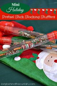 Mini Holiday Pretzel Stick Stocking Stuffers - #ValueSeekersClub - Lady Behind The Curtain