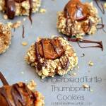 Gingerbread Turtle Thumbprint Cookies