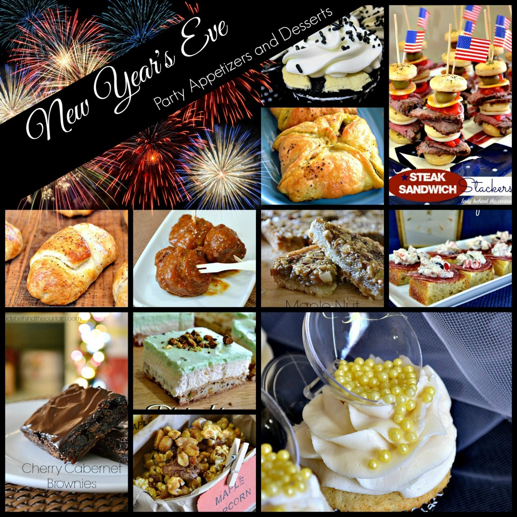 New Year's Eve Party Appetizers and Desserts