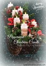 Peppermint Christmas Candle Push Up Pop Centerpiece