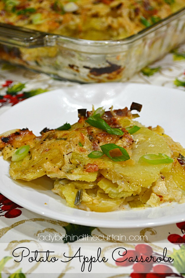 Potato Apple Casserole - Lady Behind The Curtain