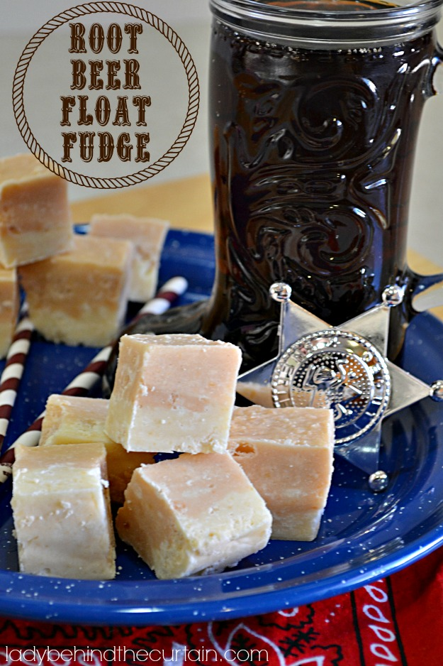 Root Beer Float Fudge - Lady Behind The Curtain