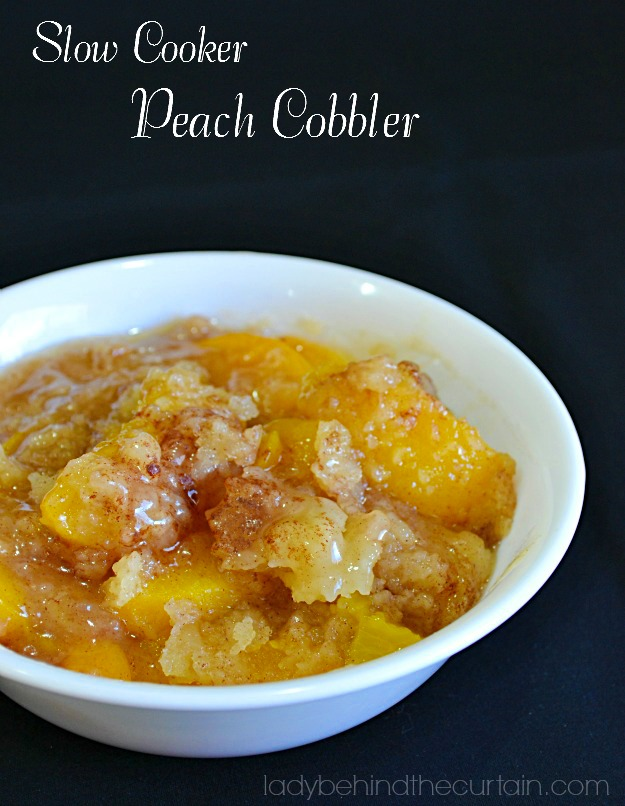 Keep peaches and store bought pie crust on hand for a quick and easy dessert.