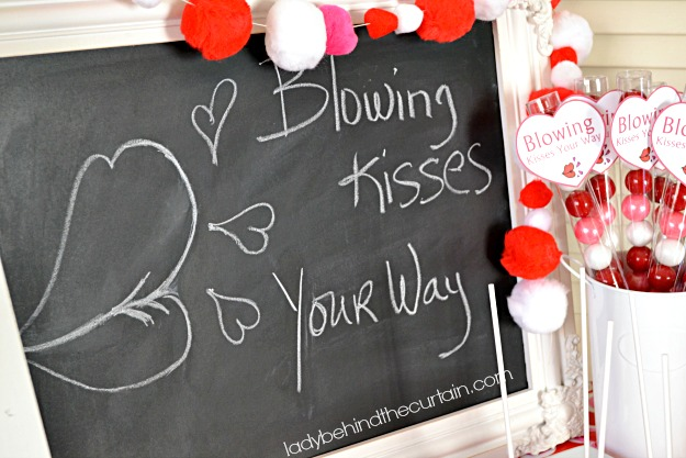 Blowing Kisses Your Way Valentine's Day Party - Lady Behind The Curtain