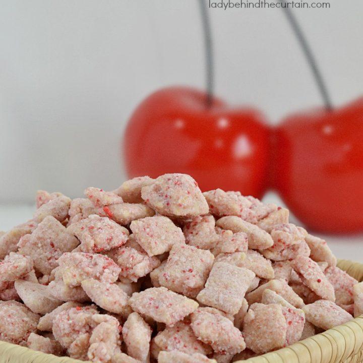 Cherry Cheesecake Puppy Chow