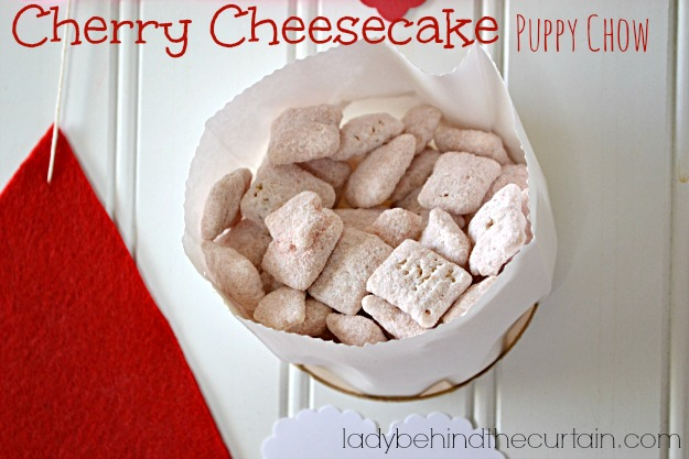 Cherry Cheesecake Puppy Chow Lady Behind The Curtain