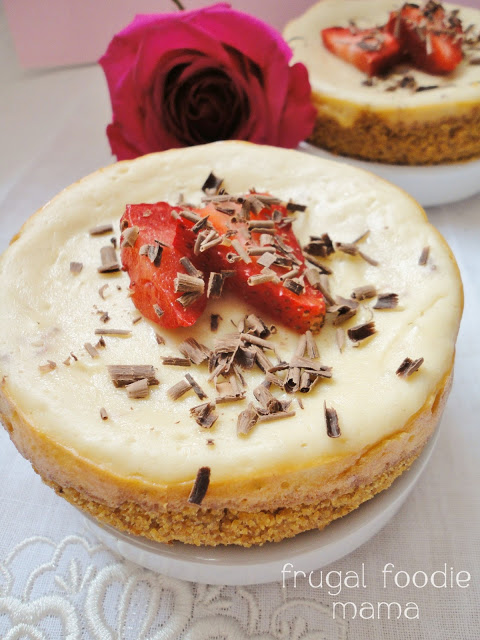 Lighter Strawberry Cheesecake for Two
