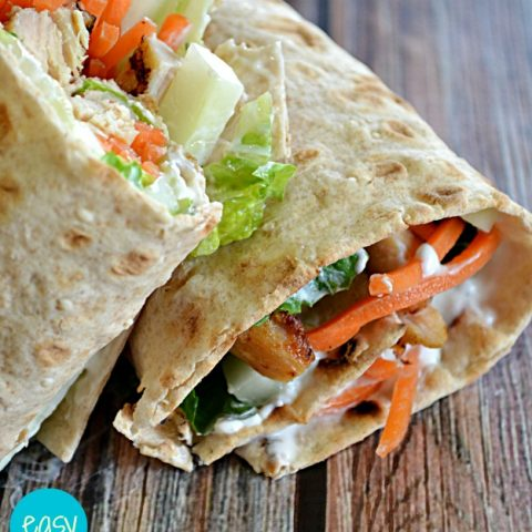 Greek Cucumber Yogurt Chicken Wrap