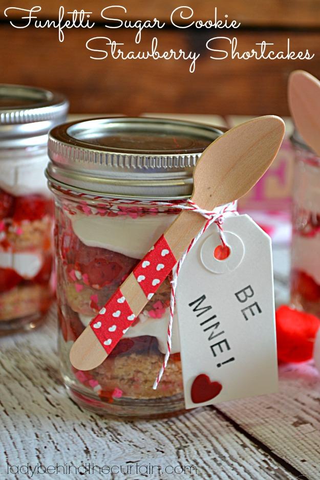 Funfetti Sugar Cookie Strawberry Shortcakes - Lady Behind The Curtain
