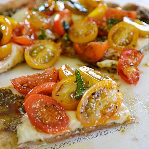 Grilled Bruschetta Pizza