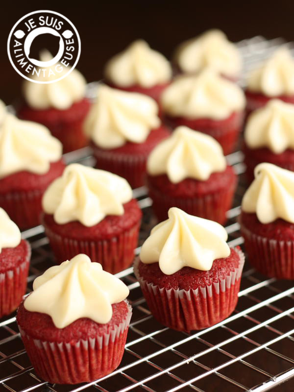 Naturel Red Velvet Cupcakes Made with Beets