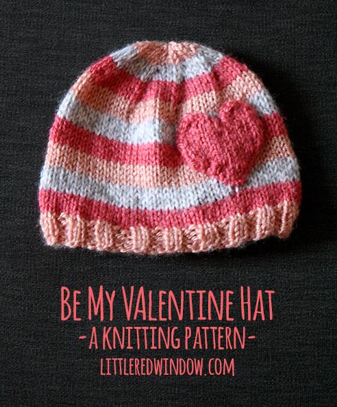 Heart Hat Knitting Pattern