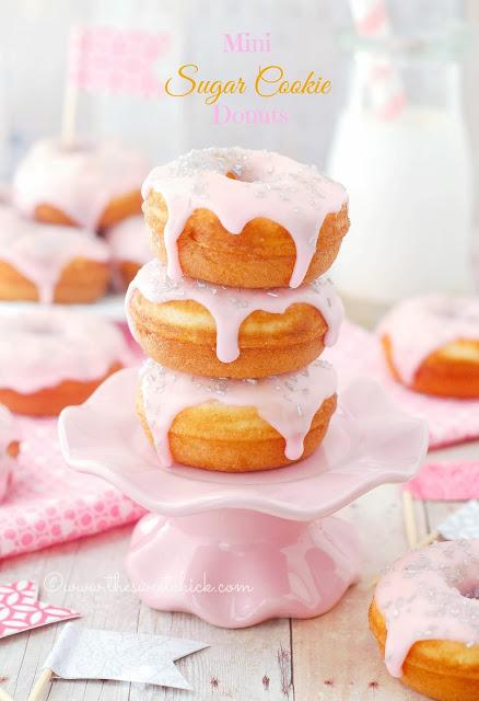 Mini Sugar Cookie Donuts