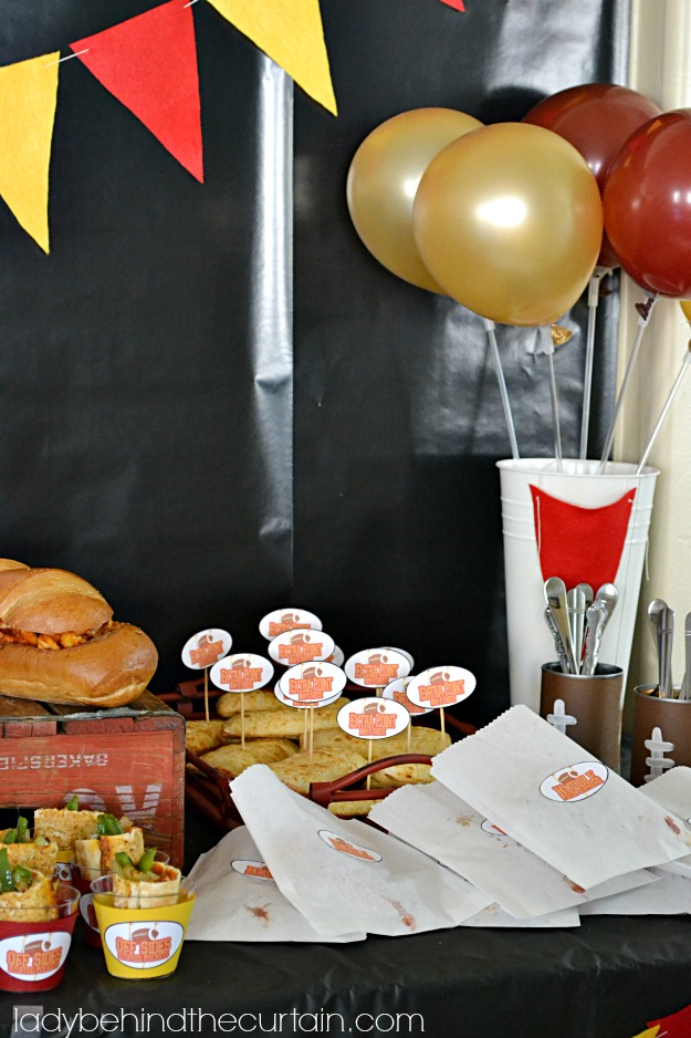 Nestle Football Party Ideas - Lady Behind The Curtain