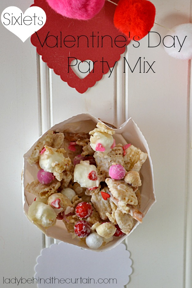 Sixlets Valentine's Day Party Mix - Lady Behind The Curtain