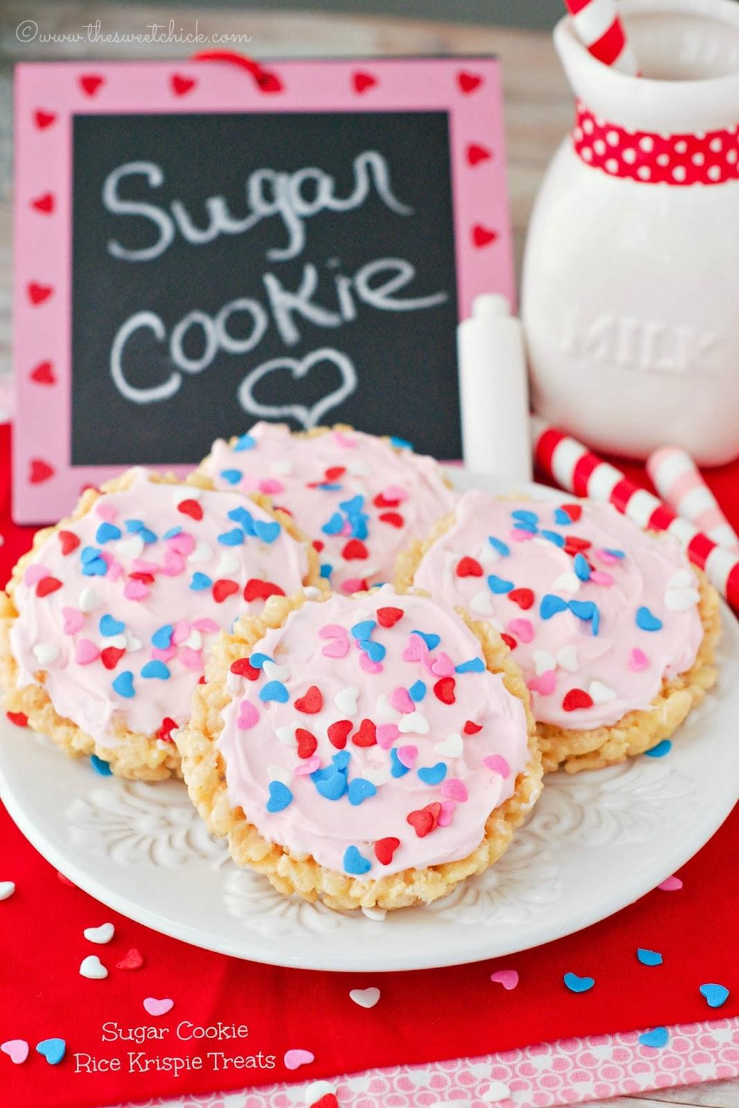 Sugar Cookie Rice Krispie Treats