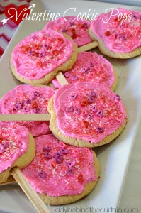 Valentine Cookie Pops - Lady Behind The Curtain