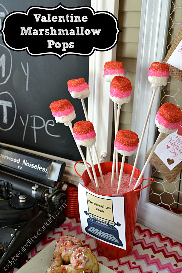 Valentine Marshmallow Pops - Lady Behind The Curtain