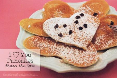 Heaqrt Shaped Pancakes