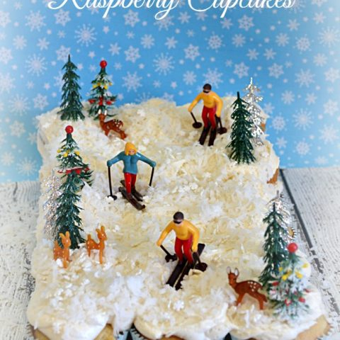 White Chocolate Raspberry Cupcakes