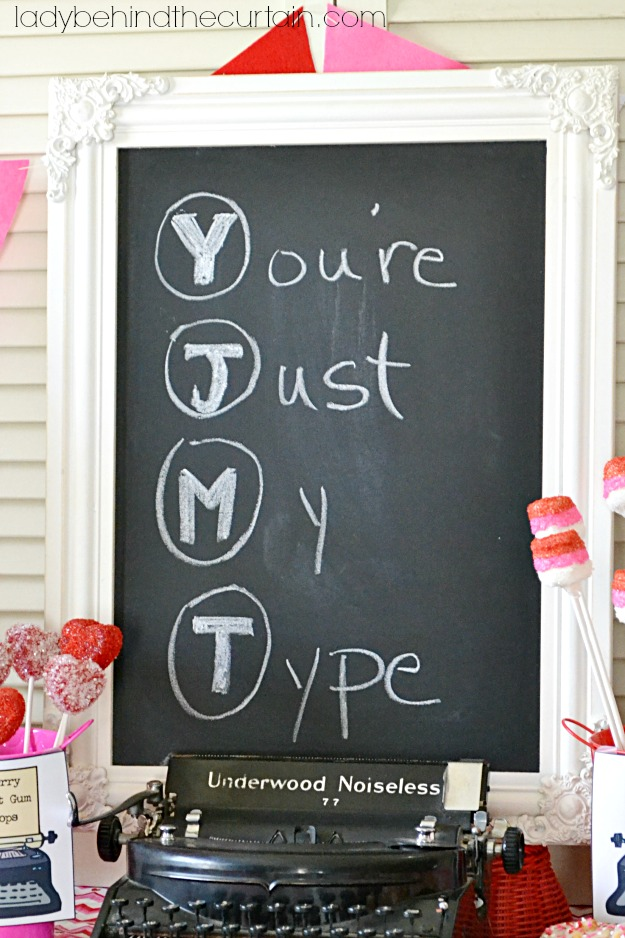 You're Just My Type Valentine's Day Dessert Table - Lady Behind The Curtain