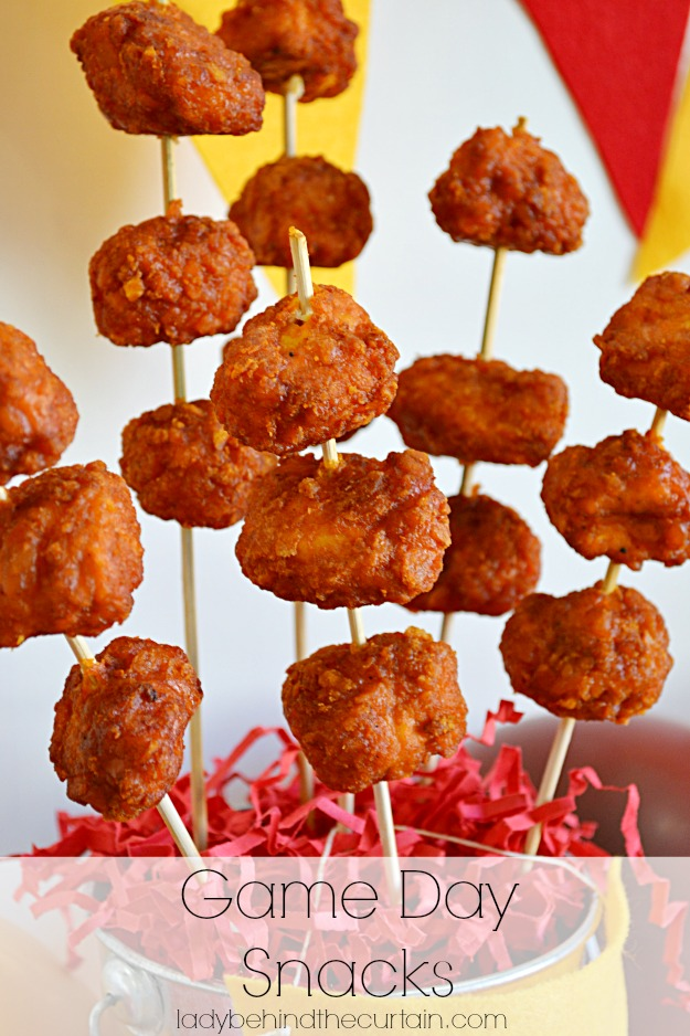 #ad Game Day Snacks - Chicken Jalapeno Bomb Bites - Lady Behind The Curtain