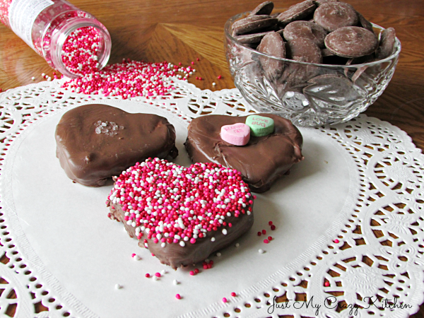 Valentine Chocolate Covered Marshmallows