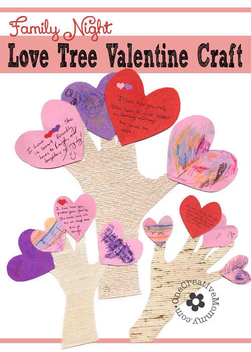 Valentine Love Tree Craft