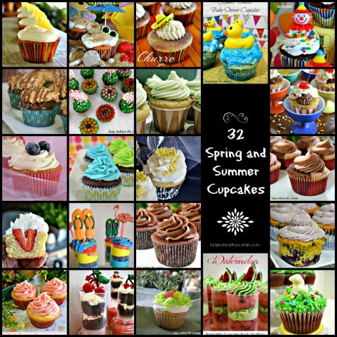 32 Spring and Summer Cupcakes