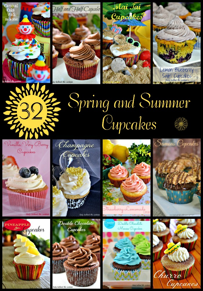 32 Spring and Summer Cupcakes - Lady Behind The Curtain