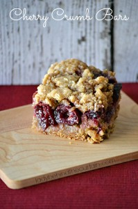 Cherry Crumb Bars - Lady Behind The Curtain