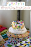 Funfetti Almond Cherry Donut Cupcakes