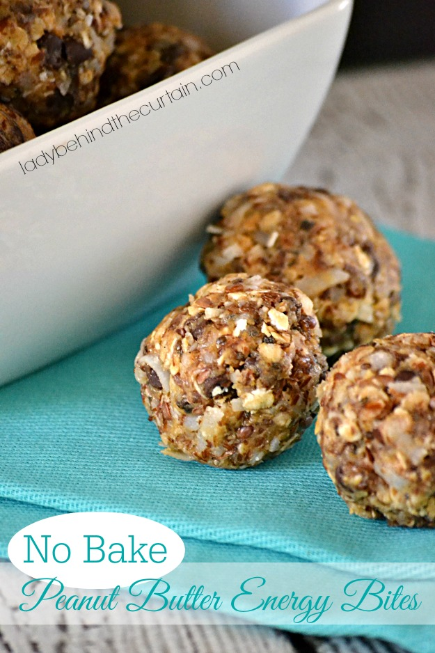 No Bake Peanut Butter Energy Bites - Lady Behind The Curtain