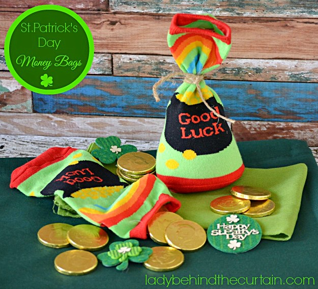 St. Patrick's Day Money Bags - Lady Behind The Curtain