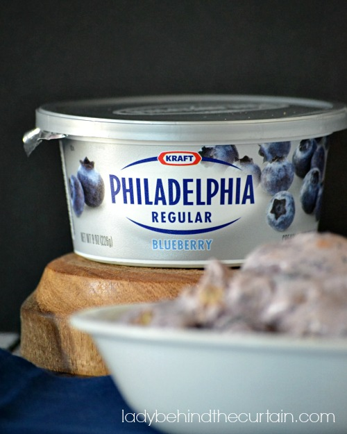 Blueberry Cheesecake Ice Cream - Lady Behind The Curtain